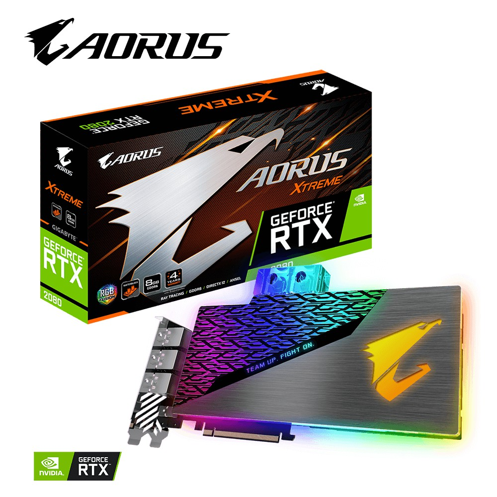 技嘉 AORUS RTX 2080 XTREME WATERFORCE WB 8G 開放式水冷 全水冷 水道板 神鷹