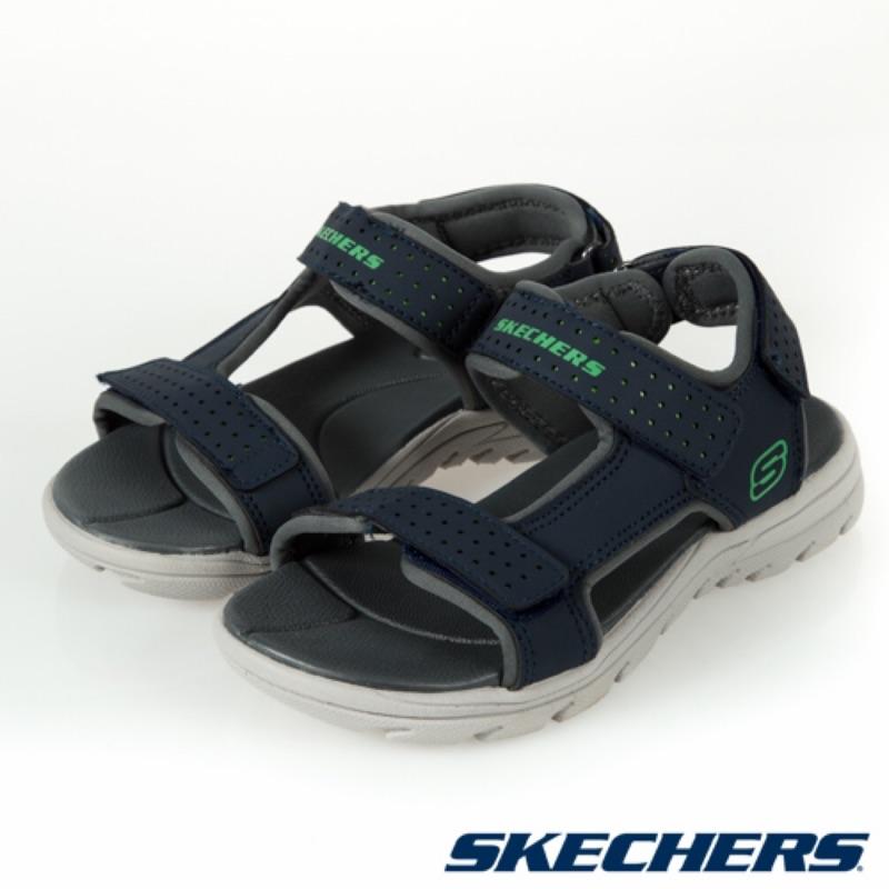 SKECHERS 男童涼拖鞋系列 SUPREME-92223LNVY
