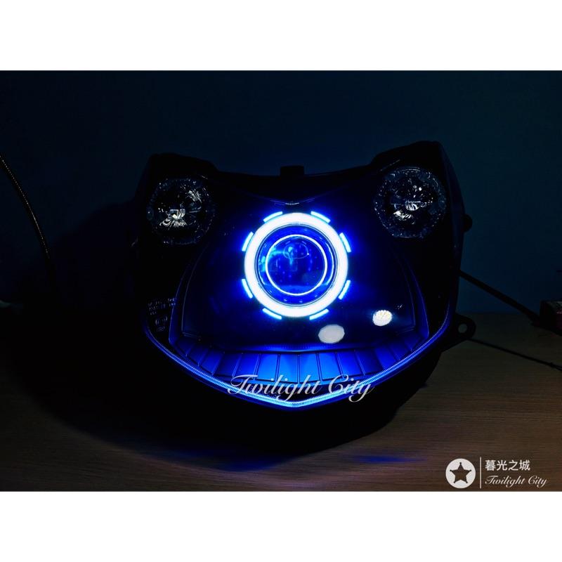 勁戰二代(黯黑C款) LED魚眼大燈LED大燈勁戰3代勁戰4代led模組魚眼非hid