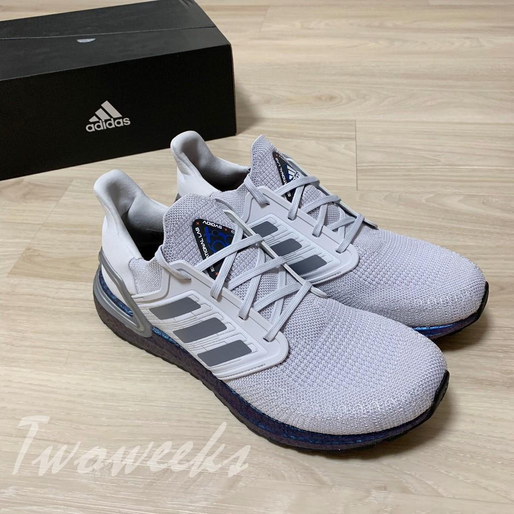 Adidas Ultra Boost 20 EG0755 灰紫 慢跑鞋