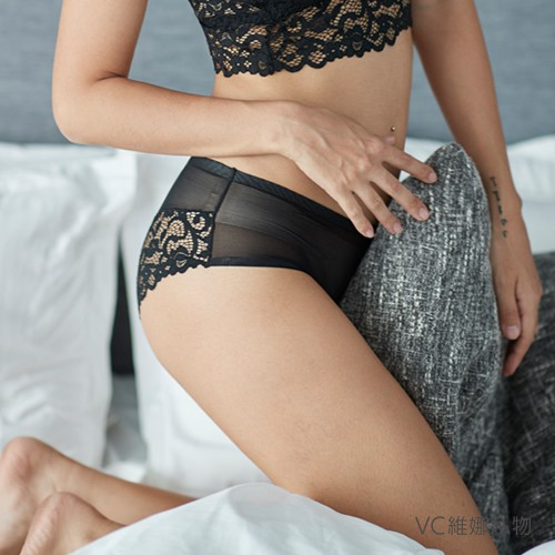 VC維娜私物|無痕內褲天使蕾絲透膚網紗款-36006P