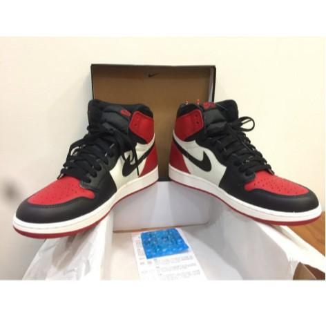 正品公司貨 AIR JRODAN 1 HIGH OG BRED TOE AJ1 黑紅頭 黑紅白 男鞋555088-610