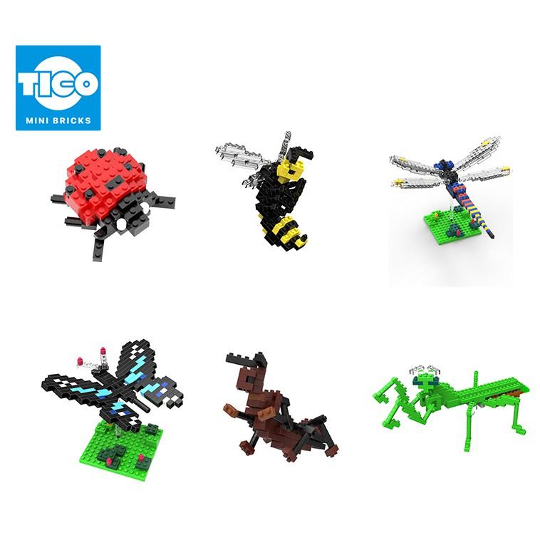 TICO微型積木 昆蟲系列 桌上小物裝飾擺飾可愛療癒