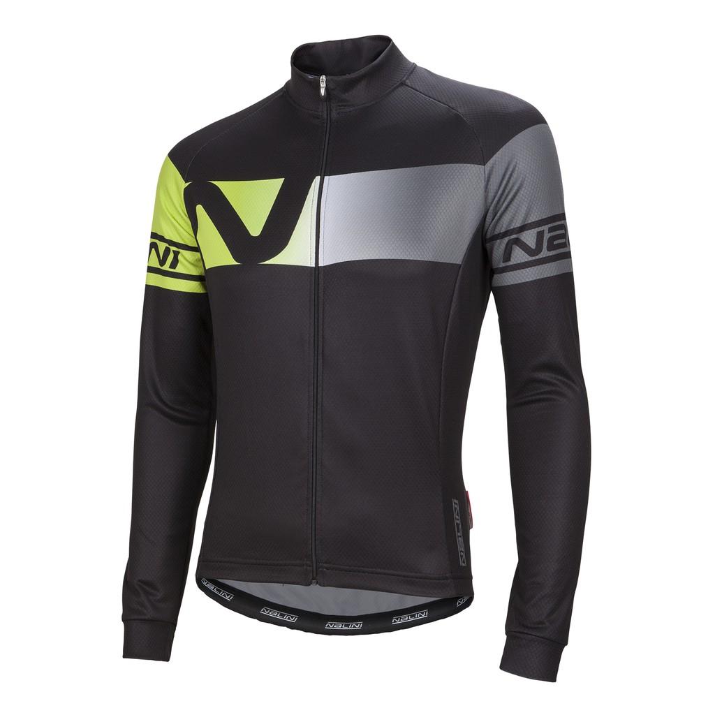 全新 義大利 NALINI PARTENZA TI 自行車男長袖薄刷毛車衣 黑黃色