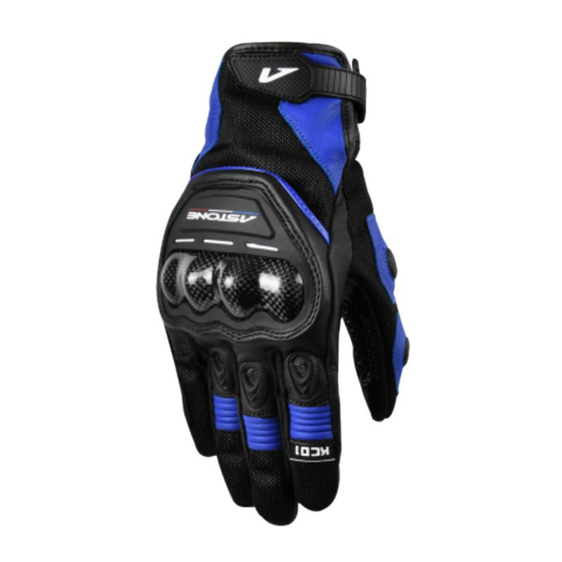 Astone 觸控透氣防摔手套 KC01 黑藍 防摔手套 可觸控 透氣 夏季手套《比帽王》