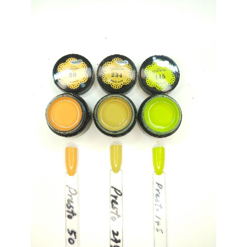 Presto凝膠/日本美甲凝膠/黃色系