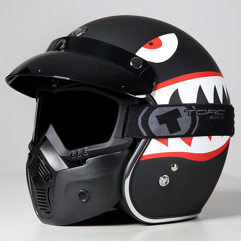【大雄】TORC摩托車復古頭盔男女半覆式機車個性四季電動車半盔安全帽夏季