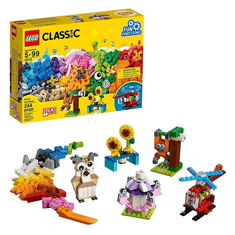 樂高Lego 10712齒輪創意拼砌盒 經典創意系列益智拼插積木玩具 adjt