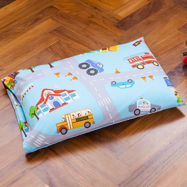 鴻宇 兒童乳膠枕 交通樂園 防蹣抗菌 美國棉授權品牌 台灣製