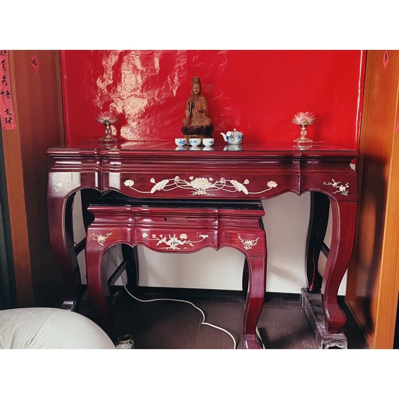 物美價廉搬家拍賣-中國風傢俱二手神明桌(紅木)、神明廳