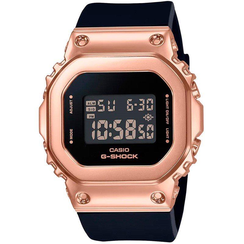 CASIO卡西歐G-SHOCK玫瑰金女士手錶小方錶GM-S5600PG-1/4/SB/SK-7