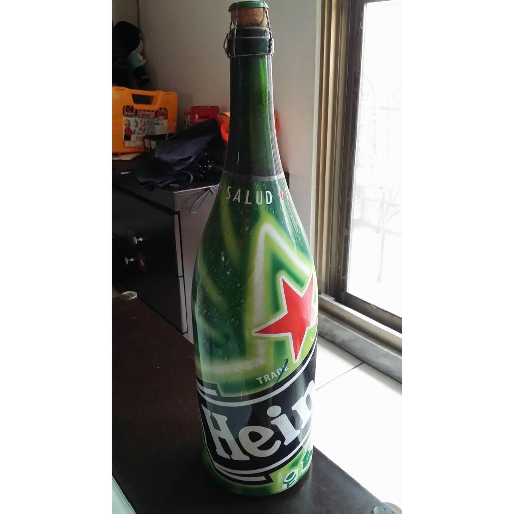 Heineken海尼根3000ml紀念瓶/空瓶/玻璃瓶(軟木塞瓶蓋)/紀念品/收藏品