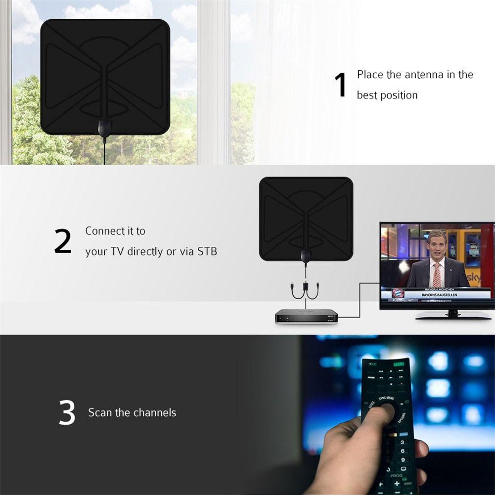 用於 Dvb-T Tv Hdtv Freeview Tv 天線的 Ufo 1080 英里 4k 1080p 數字電視天線