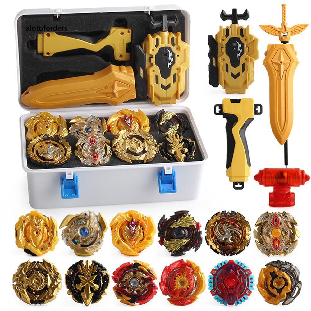 【兒童陀螺玩具】B131 B129 12件/套爆裂陀螺戰鬥陀螺帶發射器玩具