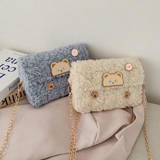【手工DIY刺繡包】【創意禮物】手工編織包包毛線diy小熊自制作手織網格手縫材料包送女友禮物