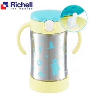 日本直購【Richell 利其爾】艾登熊304不鏽鋼吸管保溫杯300ML(TLI練習水杯) 幼兒保溫練習水杯 直飲蓋 台南市
