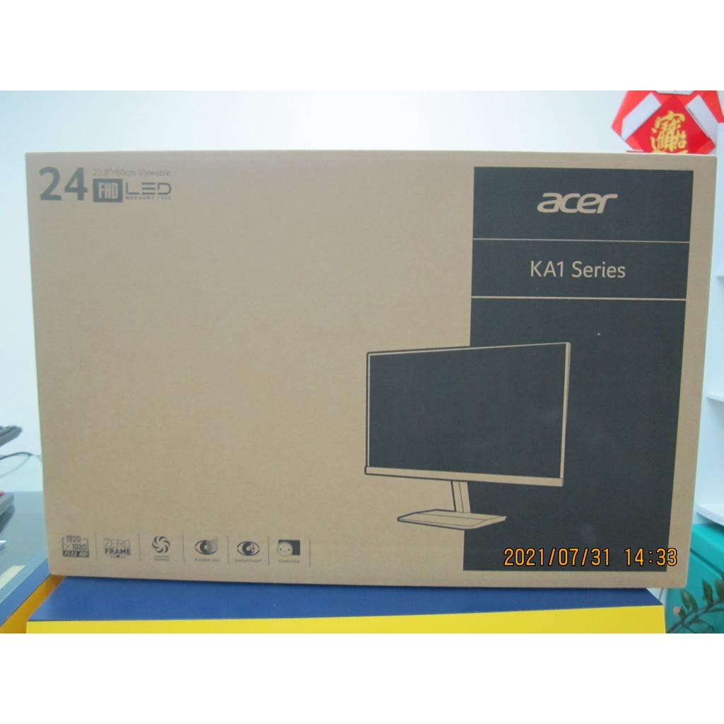 ACER 24型 廣視角螢幕(KA241Y)  HDMI  $3800含稅