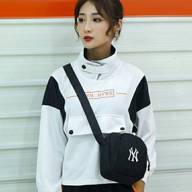 YN紐約洋基時尚品牌logo印花側背包