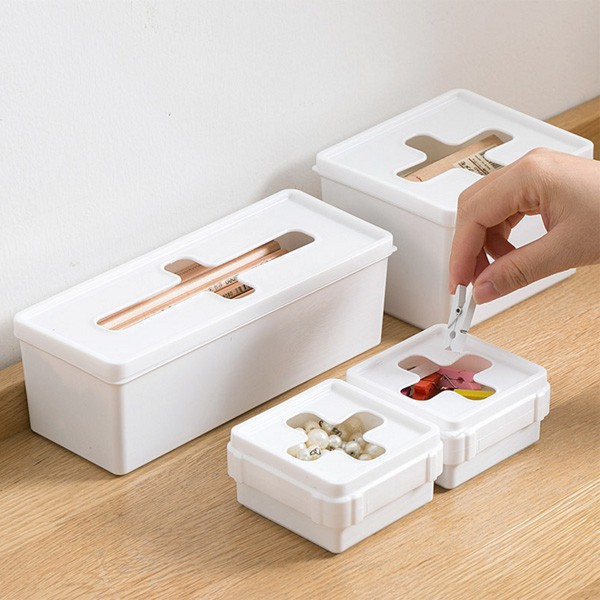 十字開口 軟蓋 無印風收納盒 口罩盒 衛生紙盒 垃圾袋  抽取式收納 廚房 【RI2594】《Jami》
