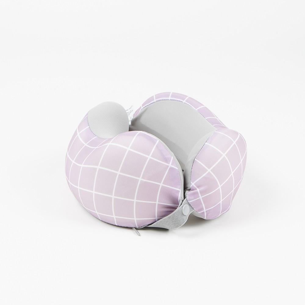 【生活工場】簡藝格調分享頸枕-紫(附頸枕套2入)