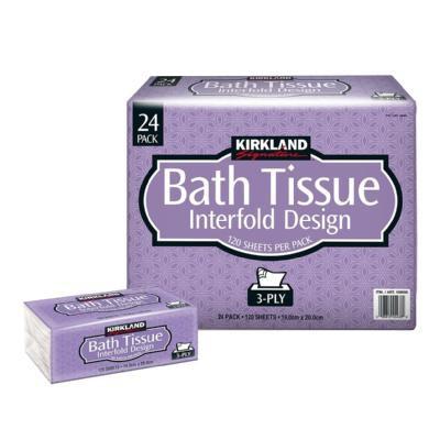 Kirkland 科克蘭三層抽取衛生紙 衛生紙 厚衛生紙 好市多衛生紙 衛生紙 紙巾120抽 好市多 代購