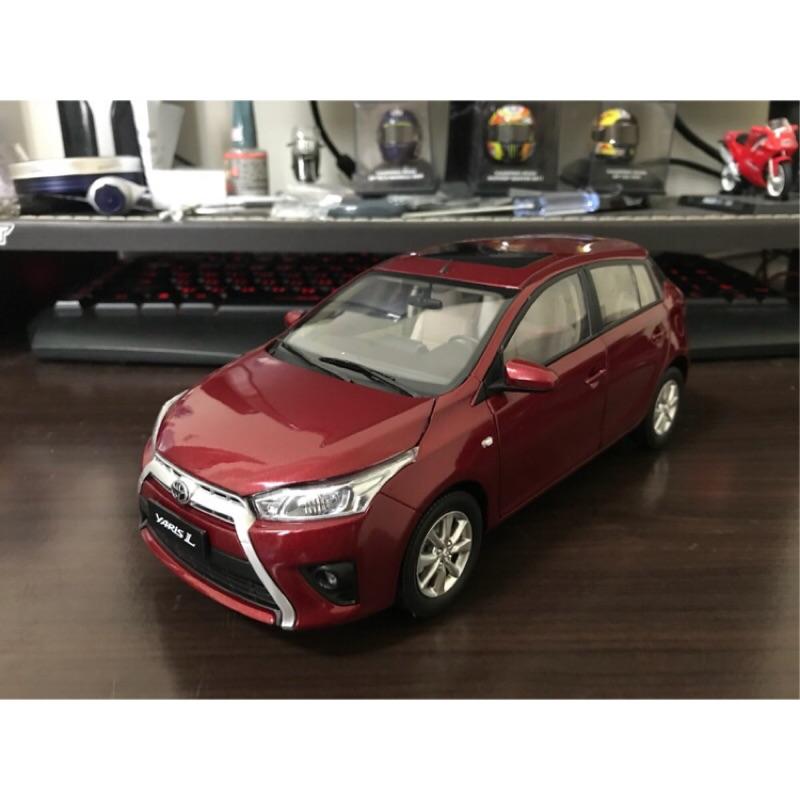 【E.M.C】1:18 1/18 原廠 豐田 Toyota Yaris 模型車