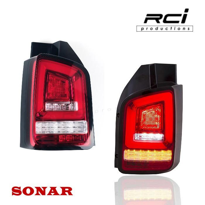 SONAR VW 福斯 T5 03-09 10-14 外銷精品 跑馬方向燈 LED光條尾燈