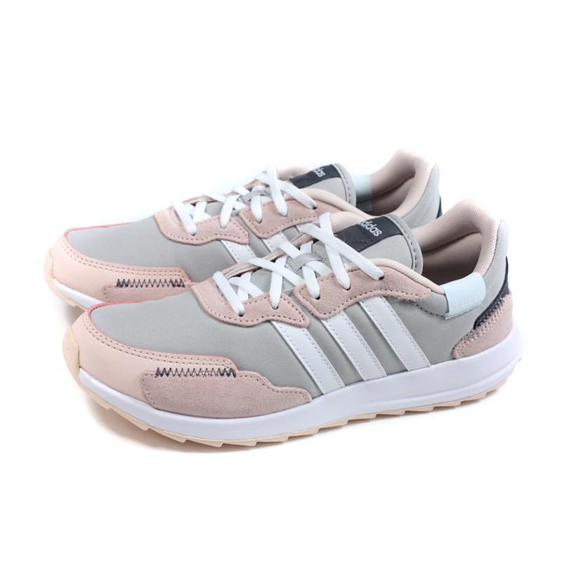 adidas RETRORUN 跑鞋 運動鞋 灰/粉紅 女鞋 FW9380 no861