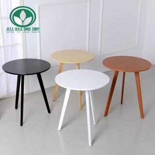 實木茶幾小戶型小圓桌美式咖啡桌 北歐沙發邊幾陽臺休閑桌子
