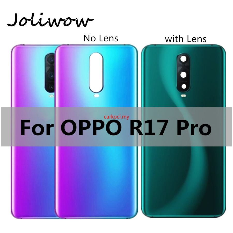 Ck- 用於 Oppo R17 Pro 電池蓋維修的新型玻璃電池後蓋門殼, 用於 Oppo R 17 Pro 後電池盒