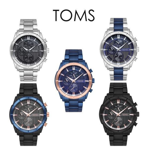 TOMS 夜光線條三眼手錶(1889)