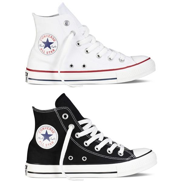CONVERSE All Star 基本款中筒 情侶 男女款 帆布鞋(白)(黑)(M9160C)