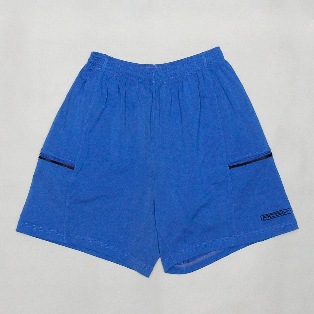 【工工】NIKE ACG Blue Sweat Shorts 藍色棉質短褲 膝上款 運動休閒穿著