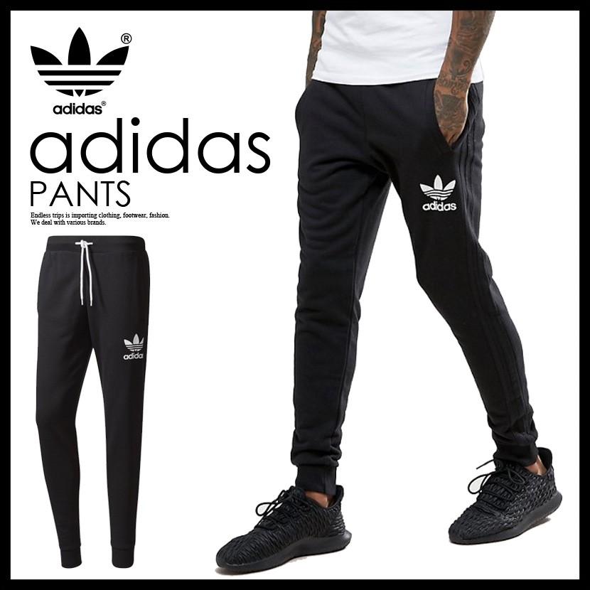 92e02e3f1d 【LANYUStore】Adidas Originals 黑三線 縮口褲 BR2147