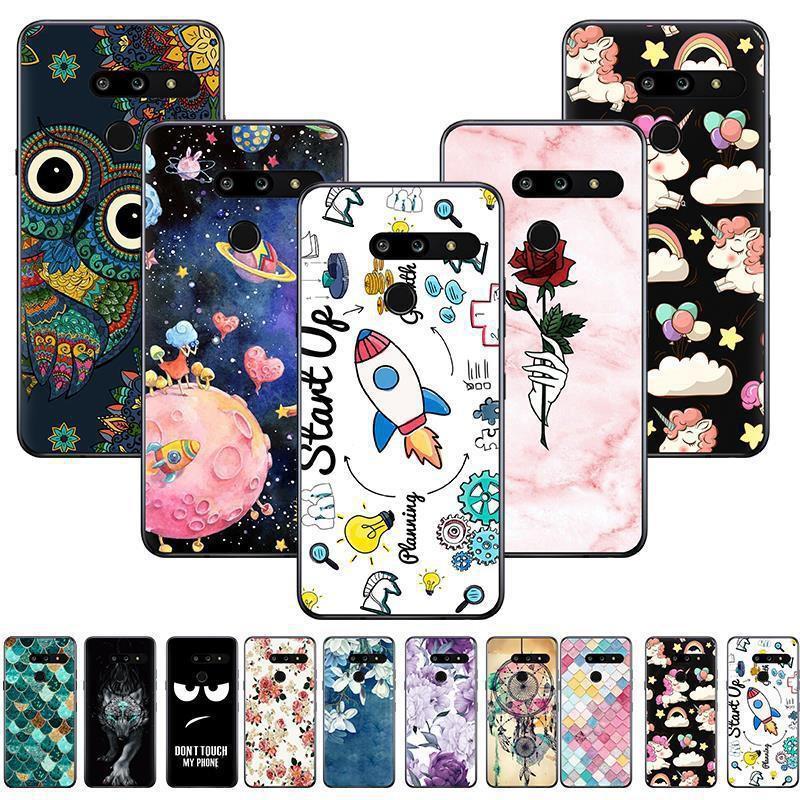 《電器商城》韓版爆款LG G8國內版手機殼LG G8韓版手機套卡通布丁套彩繪TPU軟殼潮