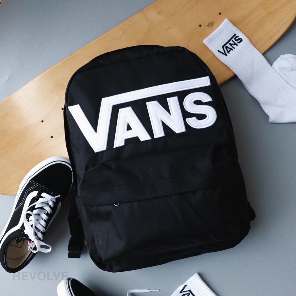 《6BON很忙 均均服飾》Vans Backpack Black 黑色 後背包