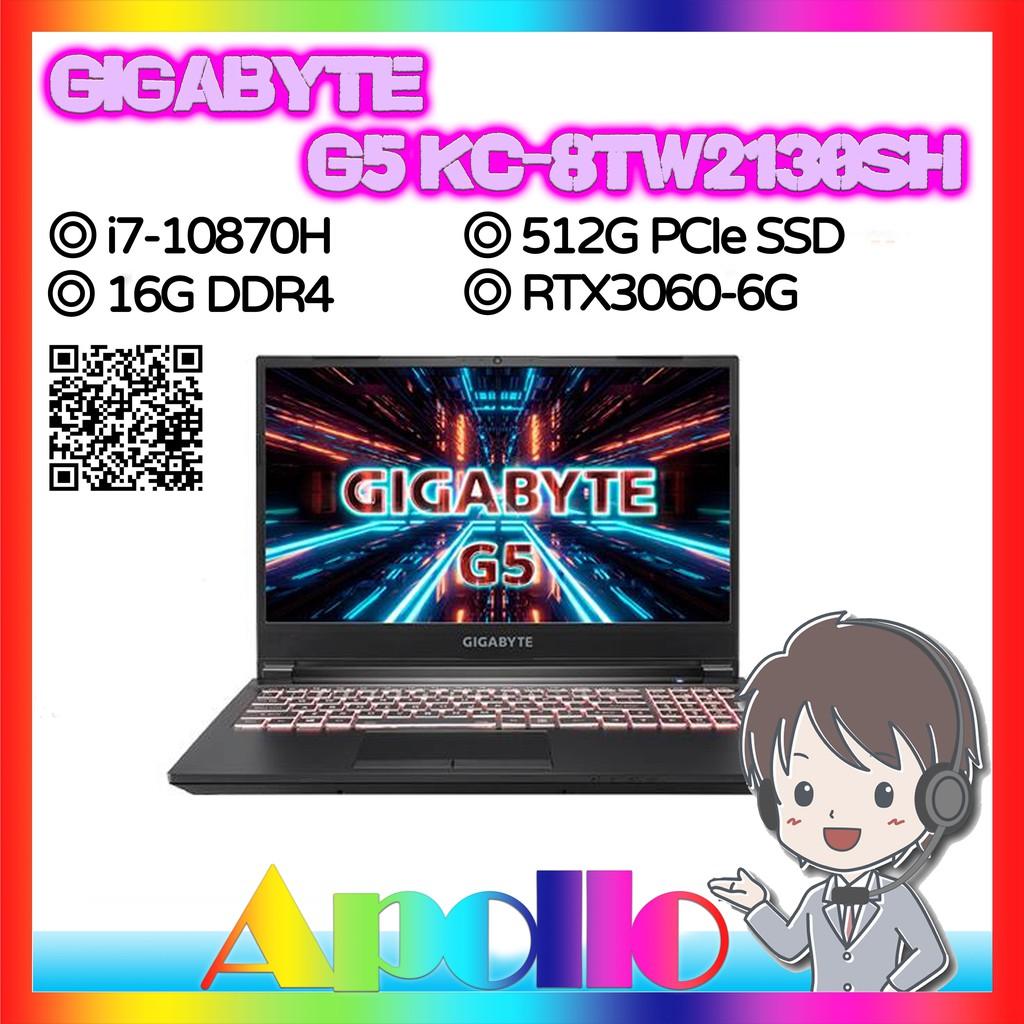 GIGABYTE/G5 KC-8TW2130SH(i7-10870H/16GD4/512GBPCIe/RTX3060/