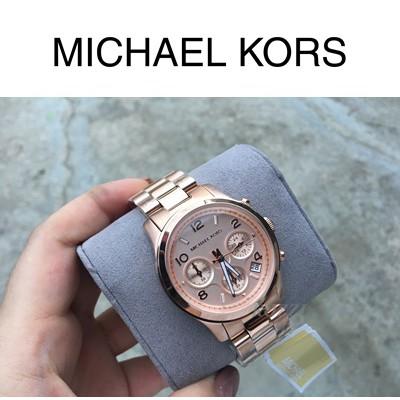 經典 Michael Kors  玫瑰金 MK5128   三眼計時 手錶 MK MK錶 MK手錶