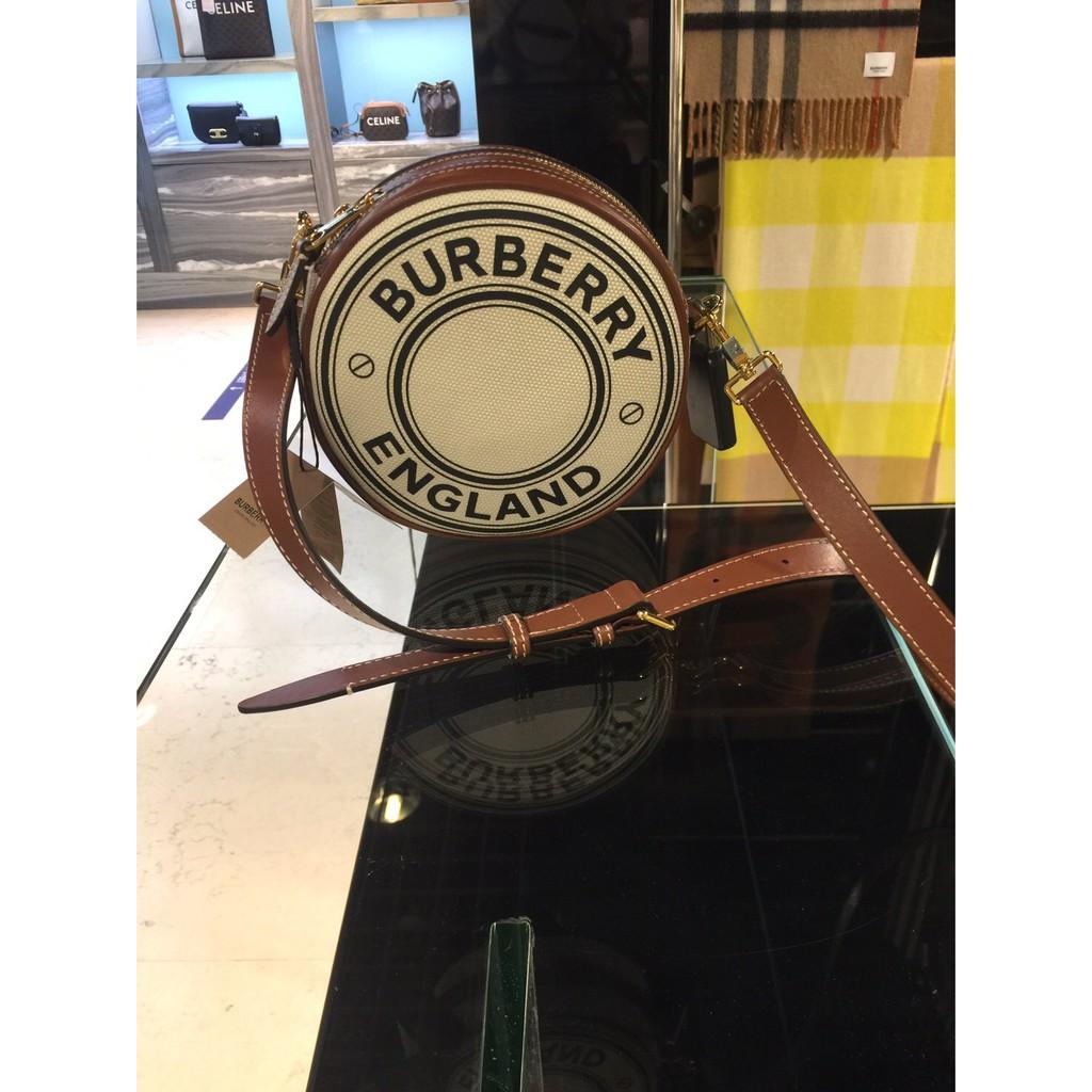 Burberry Logo 帆布圓餅包 (預購)