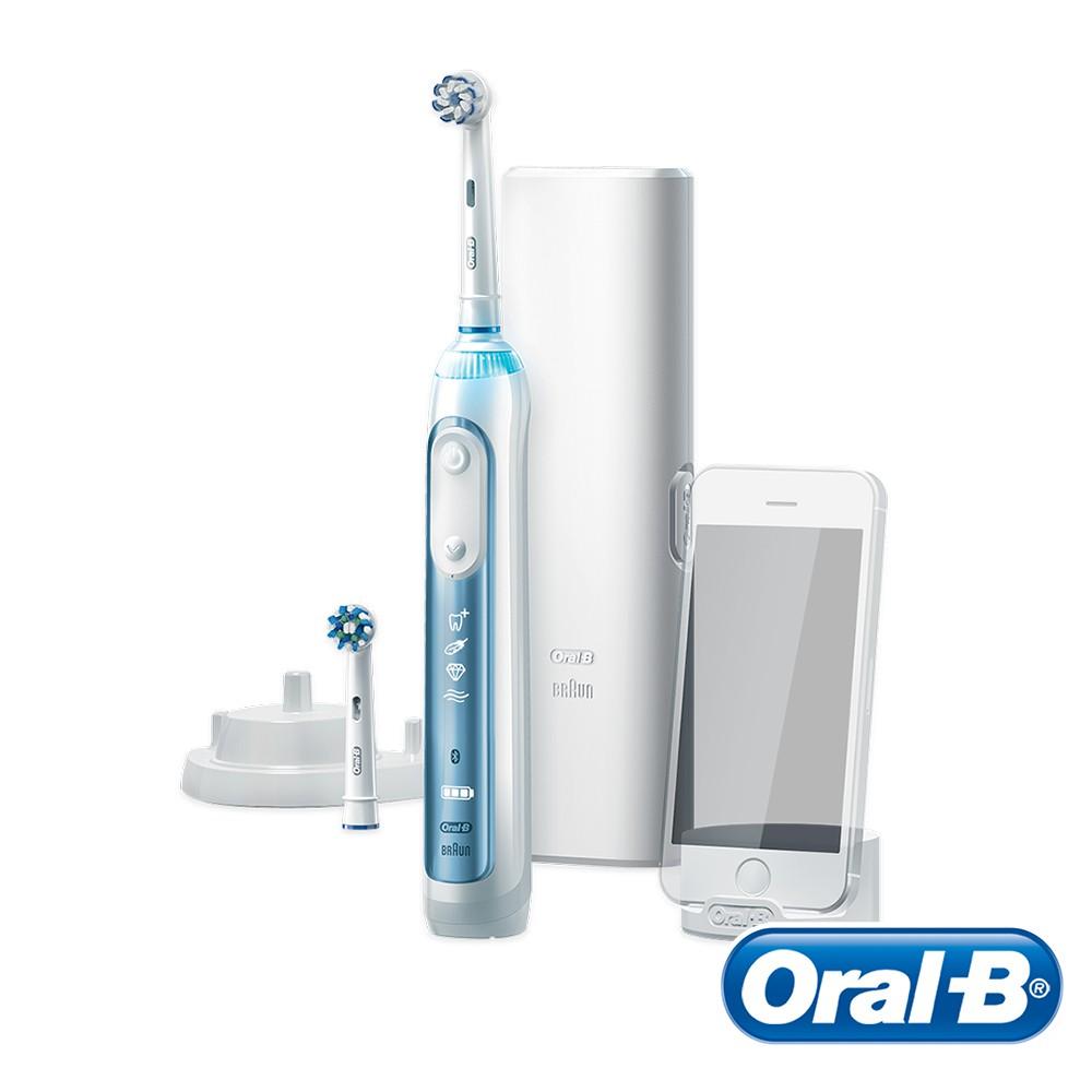 德國百靈Oral-B-Smart7000 3D智能藍芽電動牙刷 送超細毛護齦刷頭EB60-4