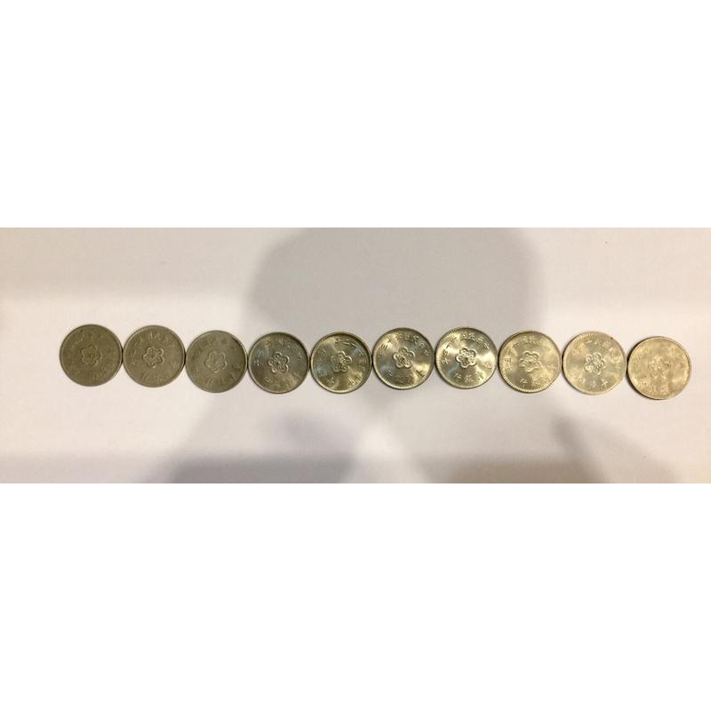 49年、59年、60-66年、68年梅花1元壹圓硬幣組10個稀少,阿爸的錢幣大出清