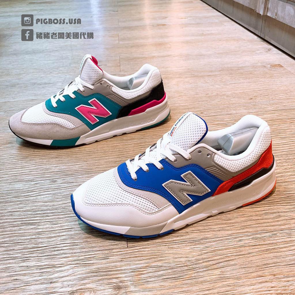 正品NEW BALANCE 997 復古 經典 休閒 運動 男女鞋 白藍CM997HZJ 灰綠CM997HZH