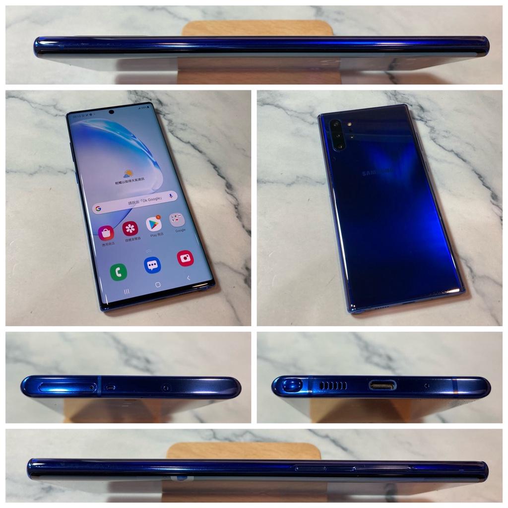 二手機 三星 NOTE 10+ Note10+ N9750 256G 藍色 9成5新【歡迎舊機交換折抵】888
