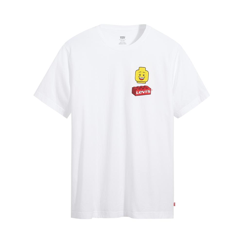 Levis X LEGO 男女同款 短袖T恤/經典樂高積木Logo/寬鬆休閒版型/ 白-熱銷單品 16143-0220