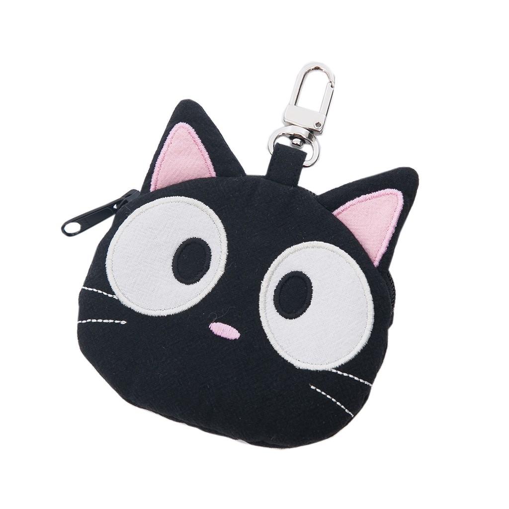 【Kiro貓】小黑貓 造型 拉鍊零錢包/小物收納包【820145】
