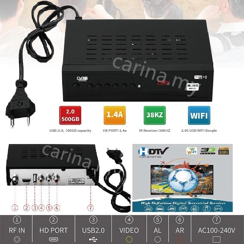 宅配免運DVBT2 set top box Digital   HDTV TV Decoder TV Receiver