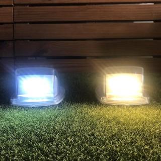 【太陽能百貨】L-07 太陽能燈 透明小壁燈 8LED籬笆燈 圍牆燈 小壁燈 庭院燈 樓梯燈 柵欄燈 走道燈 花園燈 高雄市