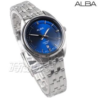 ALBA雅柏錶 都會城市風格 日期顯示窗 防水 藍寶石水晶玻璃 不銹鋼 藍色 女錶 AH7V49X1【時間玩家】 新北市