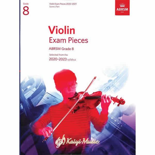 【KaiyiMusic】英國皇家 2020-2023 小提琴考試指定曲 第8級Violin Exam Pieces G8