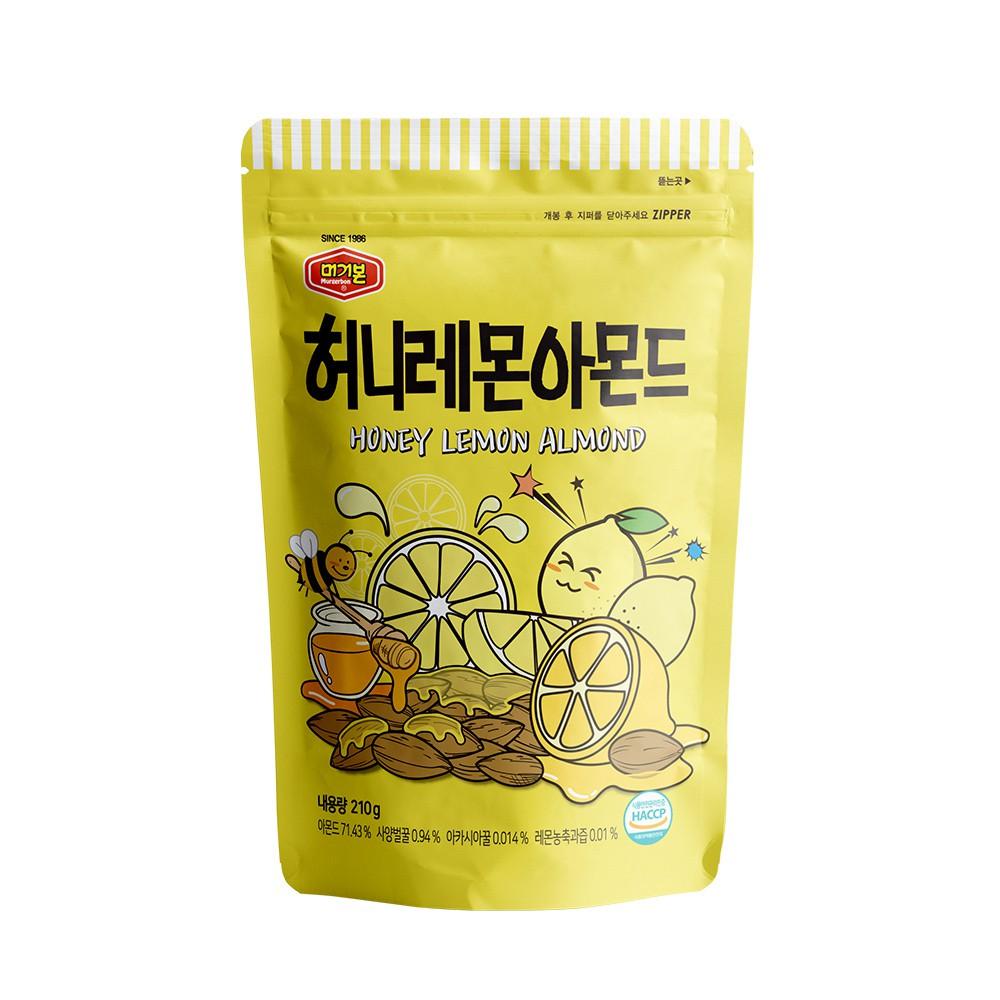 韓國正宗Murgerbon蜂蜜檸檬風味-杏仁果210g【康是美】